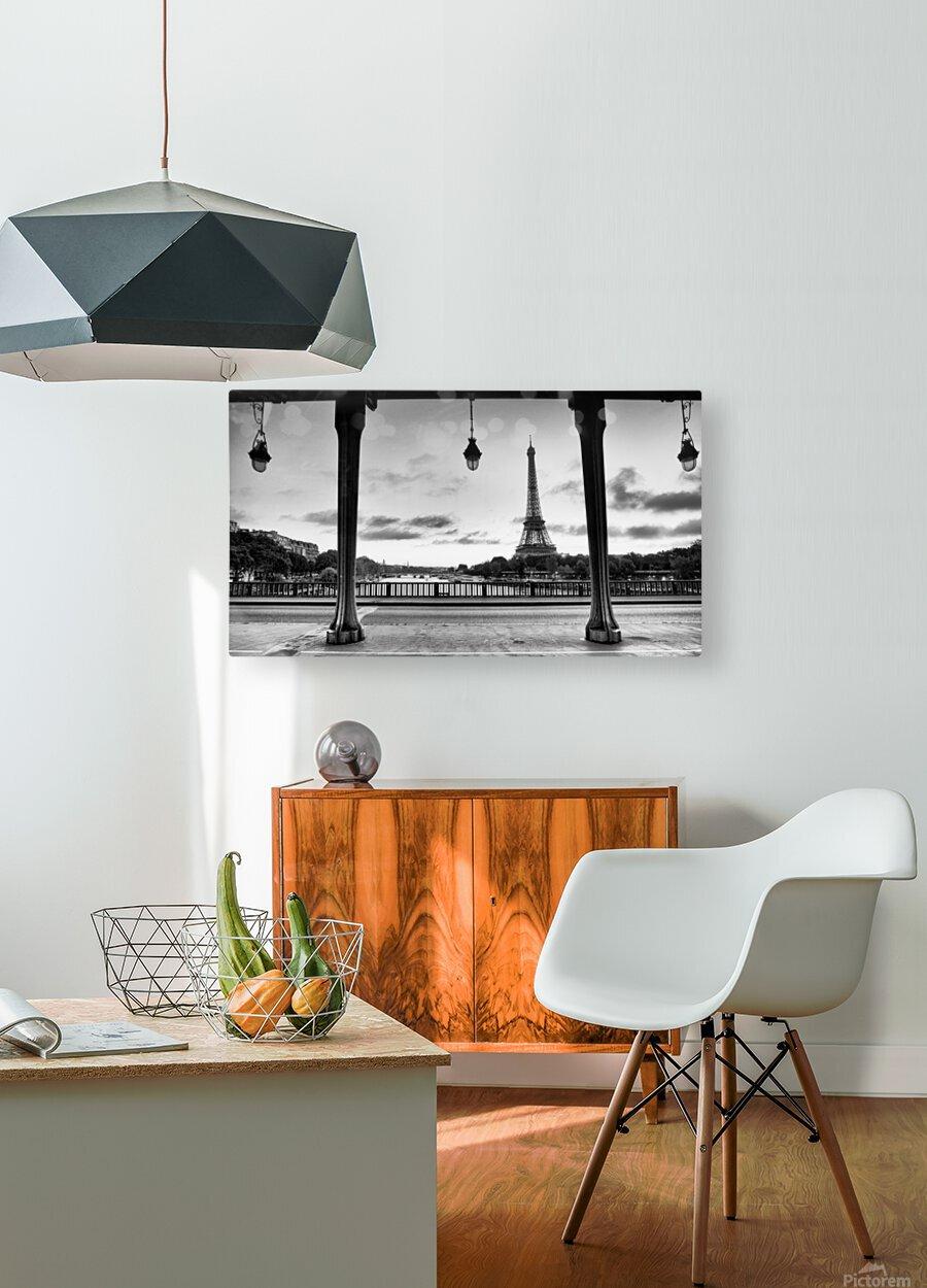 Bir-Hakeim  bridge                                   Impression métal HD avec cadre flottant sur le dos