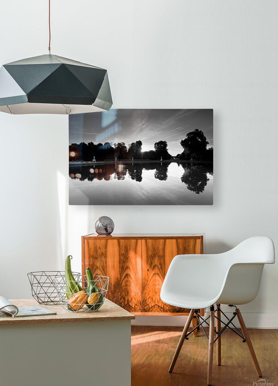 Tuileries reflection  Impression métal HD avec cadre flottant sur le dos