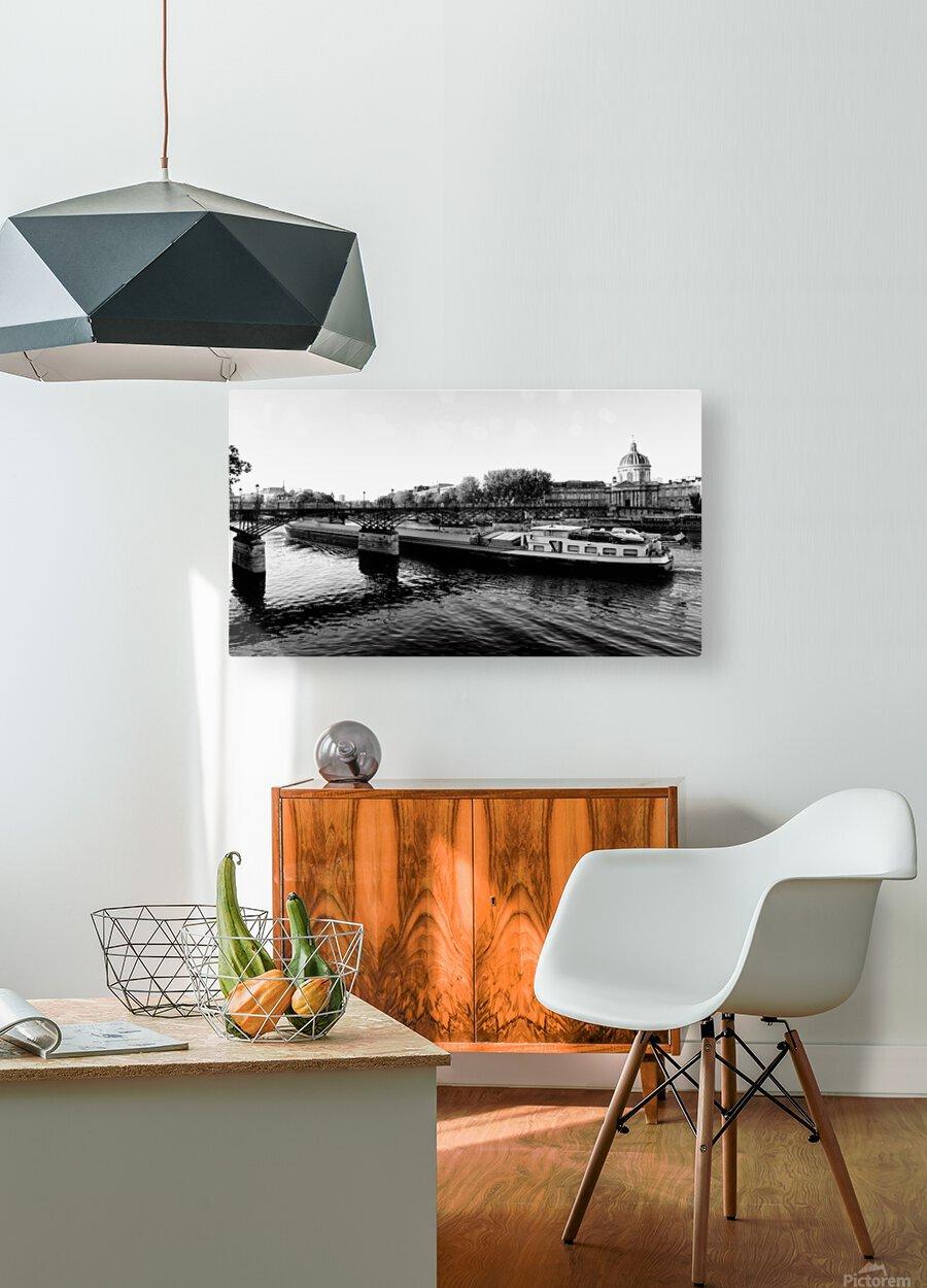 Under the Pont des Arts  Impression métal HD avec cadre flottant sur le dos