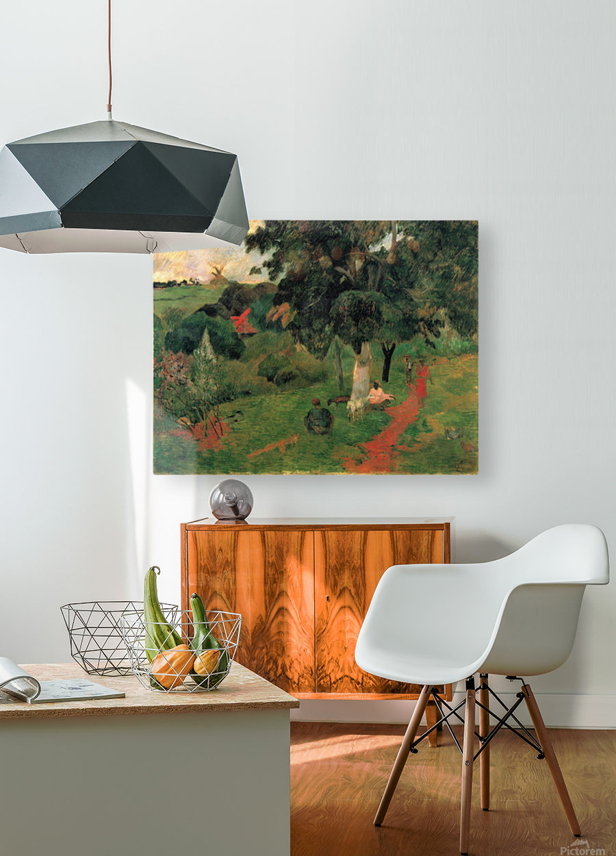 To and Fro by Gauguin  HD Metal print with Floating Frame on Back