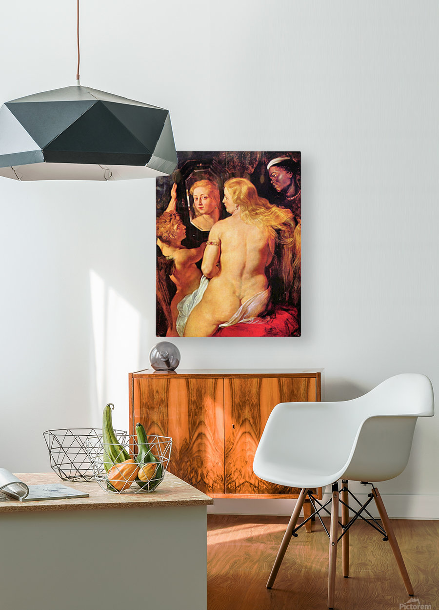 Toilette of Venus by Rubens  HD Metal print with Floating Frame on Back