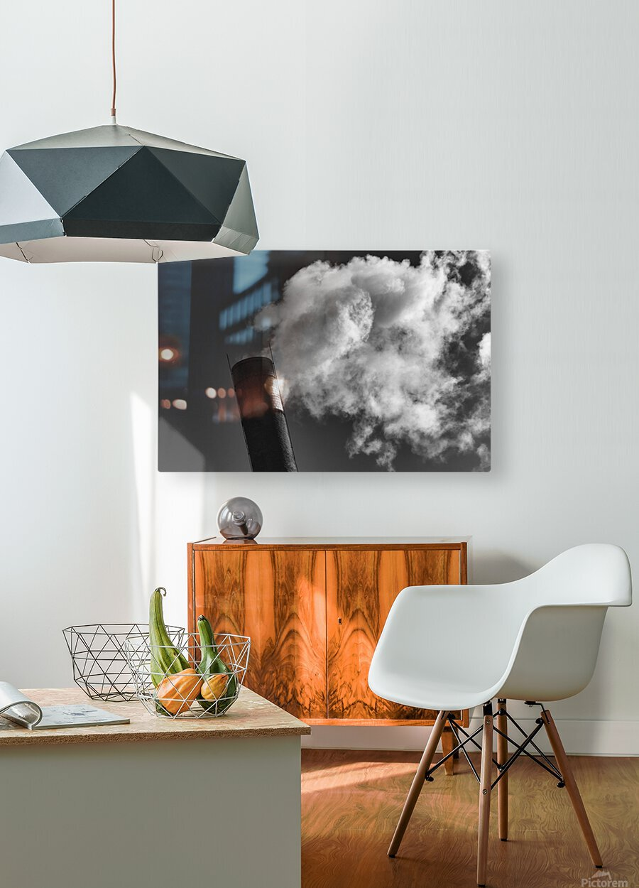 SMOKESTACK NUMBER TEN  HD Metal print with Floating Frame on Back