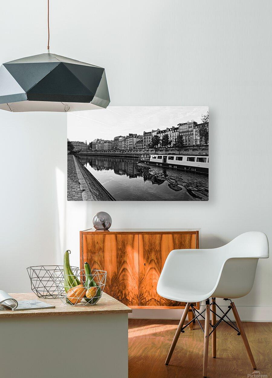 River cruise  Impression métal HD avec cadre flottant sur le dos