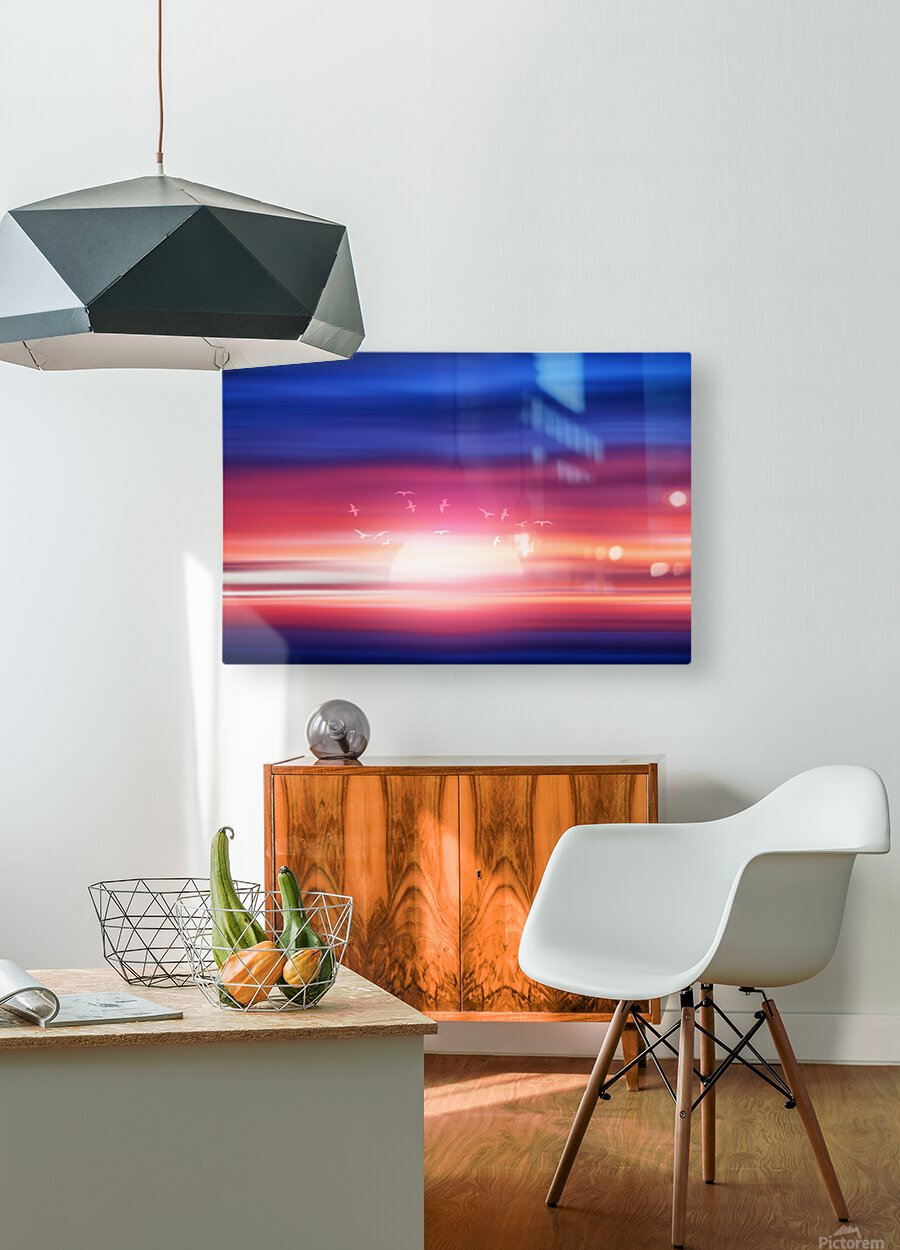 Abstract Movement XVII  HD Metal print with Floating Frame on Back
