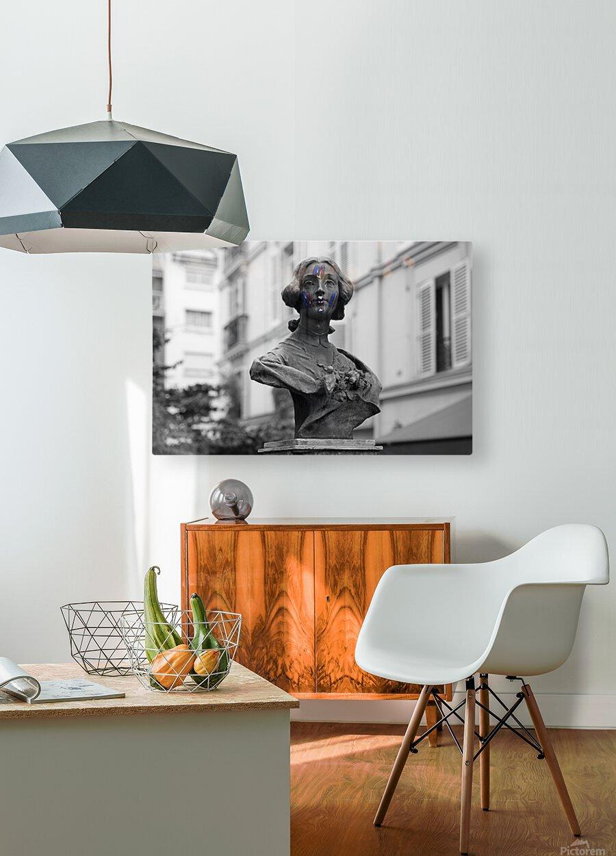 French colors  Impression métal HD avec cadre flottant sur le dos
