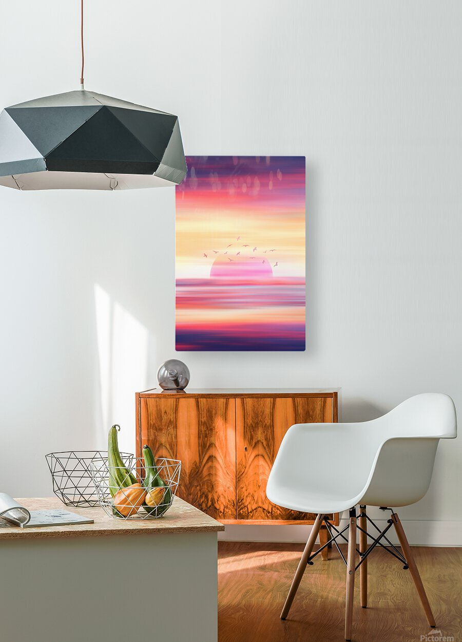 Abstract Movement XIX  HD Metal print with Floating Frame on Back