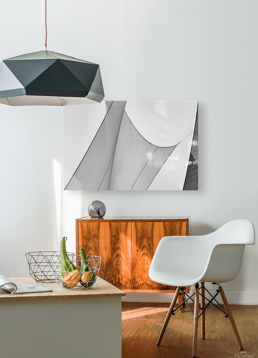 Abstract Sailcloth 8  HD Metal print with Floating Frame on Back