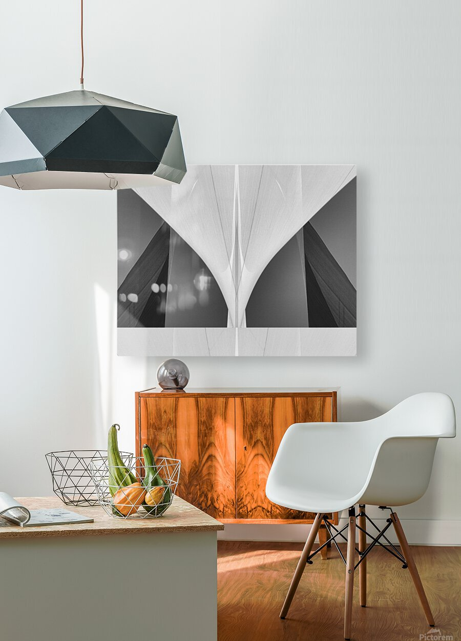 Abstract Sailcloth 1  HD Metal print with Floating Frame on Back