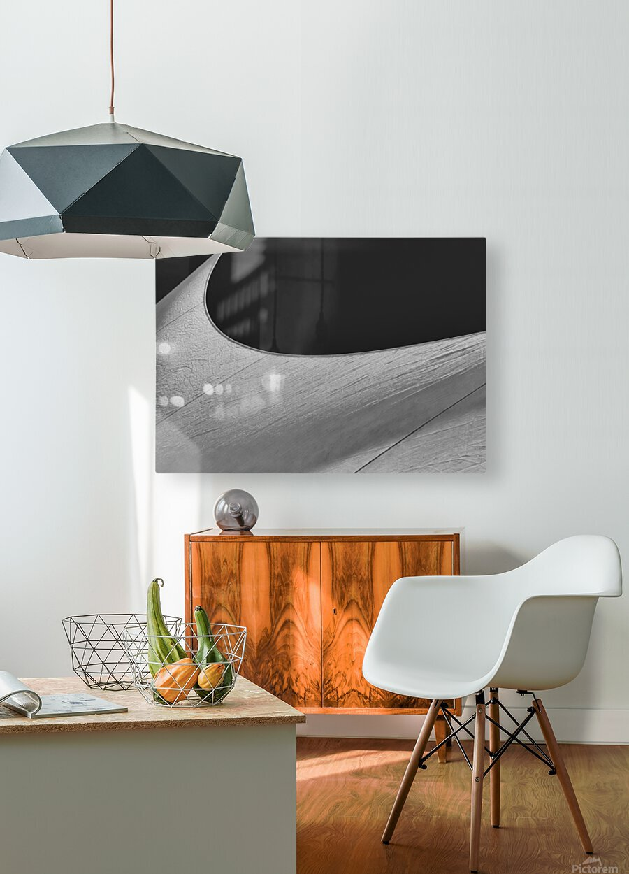 Abstract Sailcloth 19  HD Metal print with Floating Frame on Back