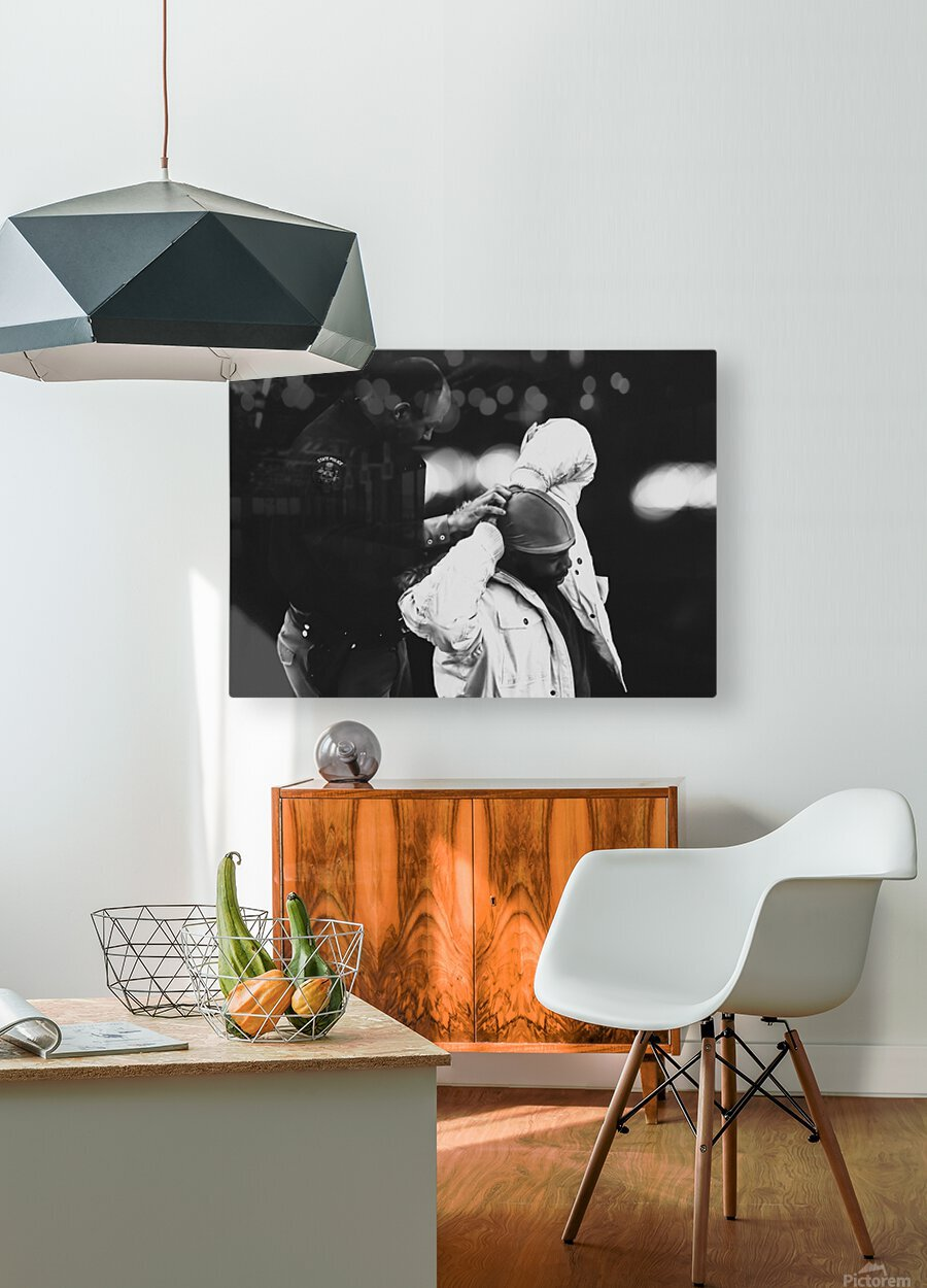 Detain and Search  HD Metal print with Floating Frame on Back