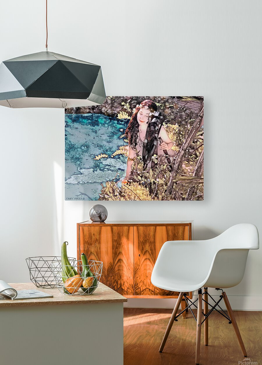 FAIRY AND THE LAKE - Art-Photo  2-4  HD Metal print with Floating Frame on Back