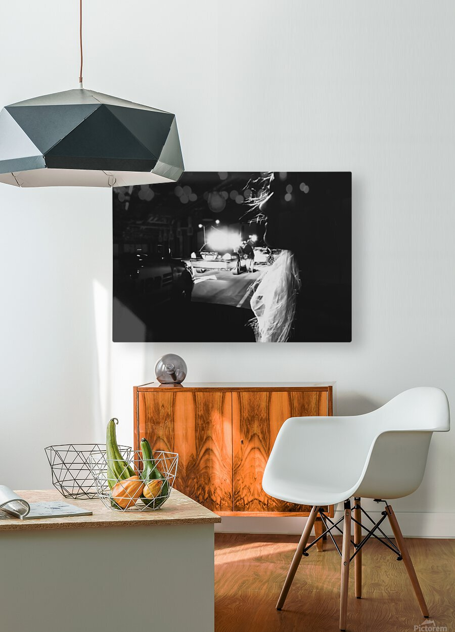 Undercover Policewoman  HD Metal print with Floating Frame on Back
