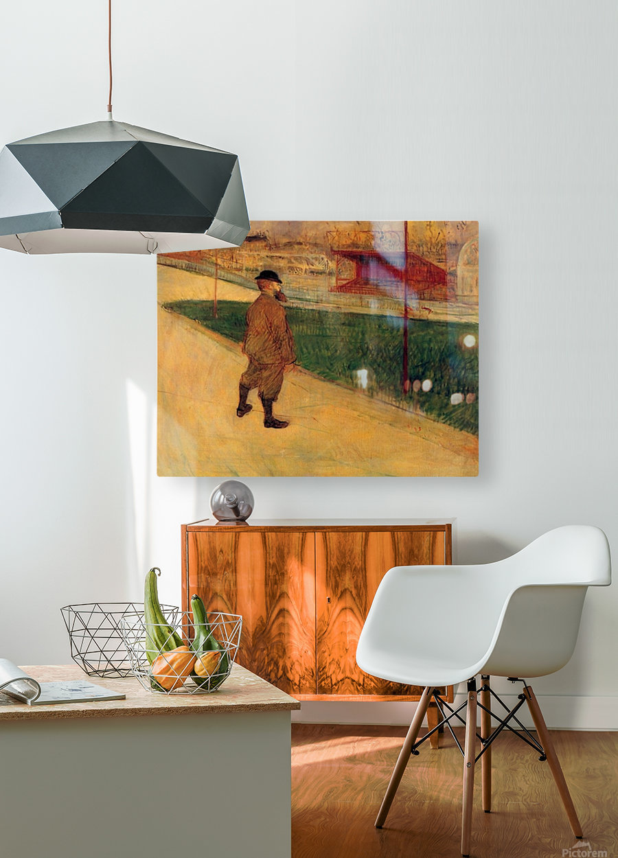 Tristan Bernard by Toulouse-Lautrec  HD Metal print with Floating Frame on Back