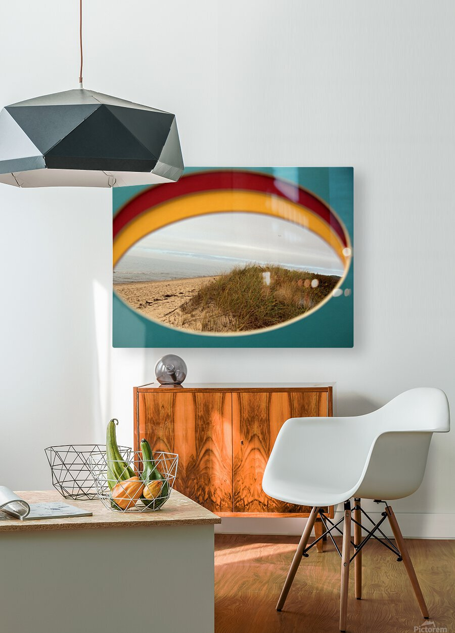 Absorbed-in-Ocean  HD Metal print with Floating Frame on Back