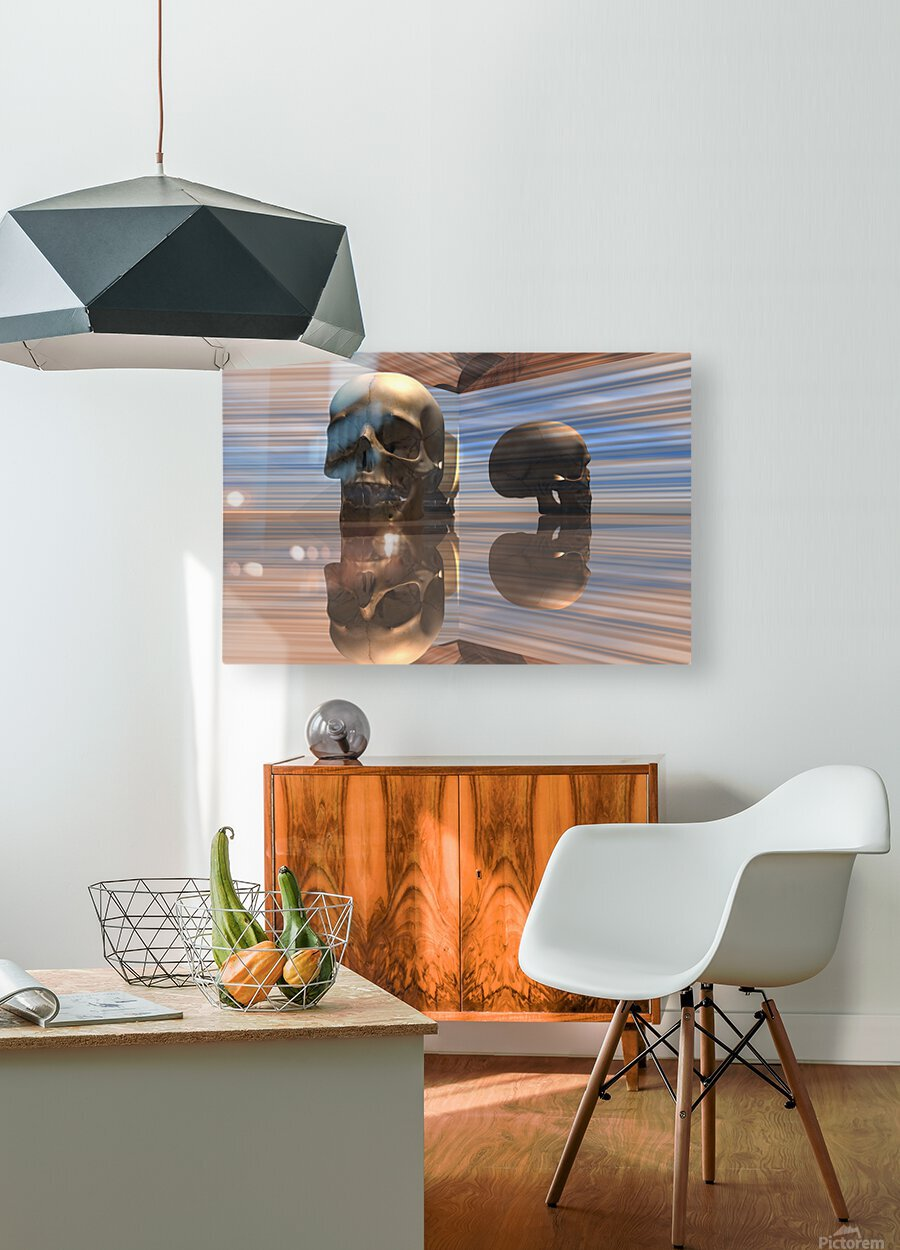 Sapiens  HD Metal print with Floating Frame on Back
