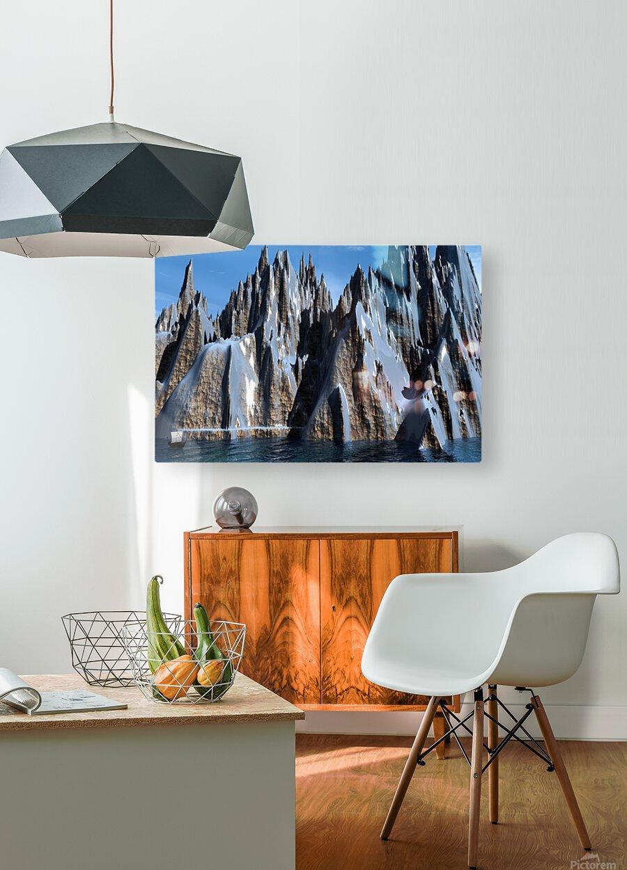 L antre d Odin  HD Metal print with Floating Frame on Back