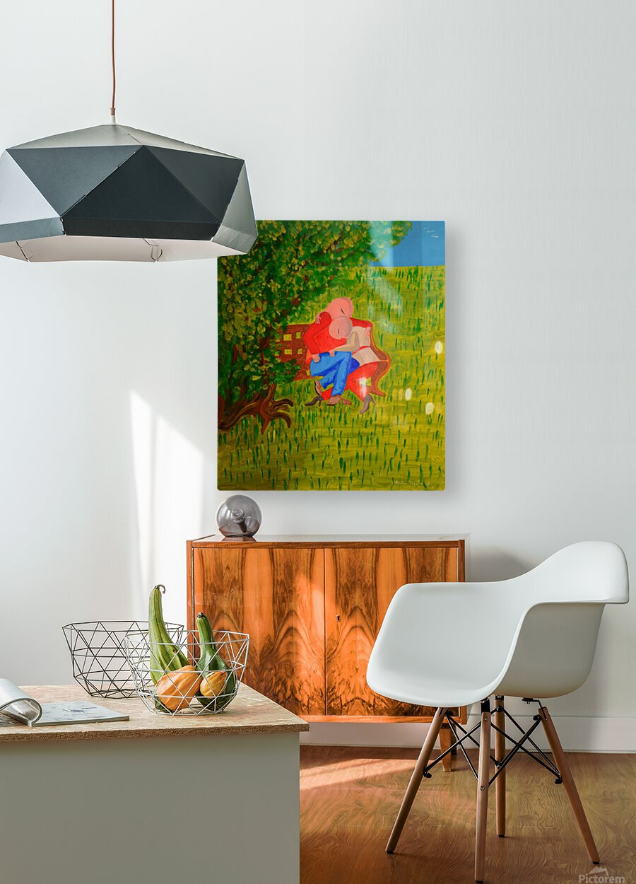 les amoureux  HD Metal print with Floating Frame on Back