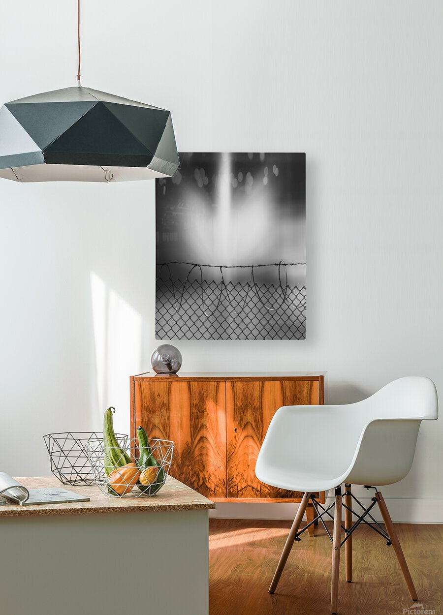 Defense  HD Metal print with Floating Frame on Back