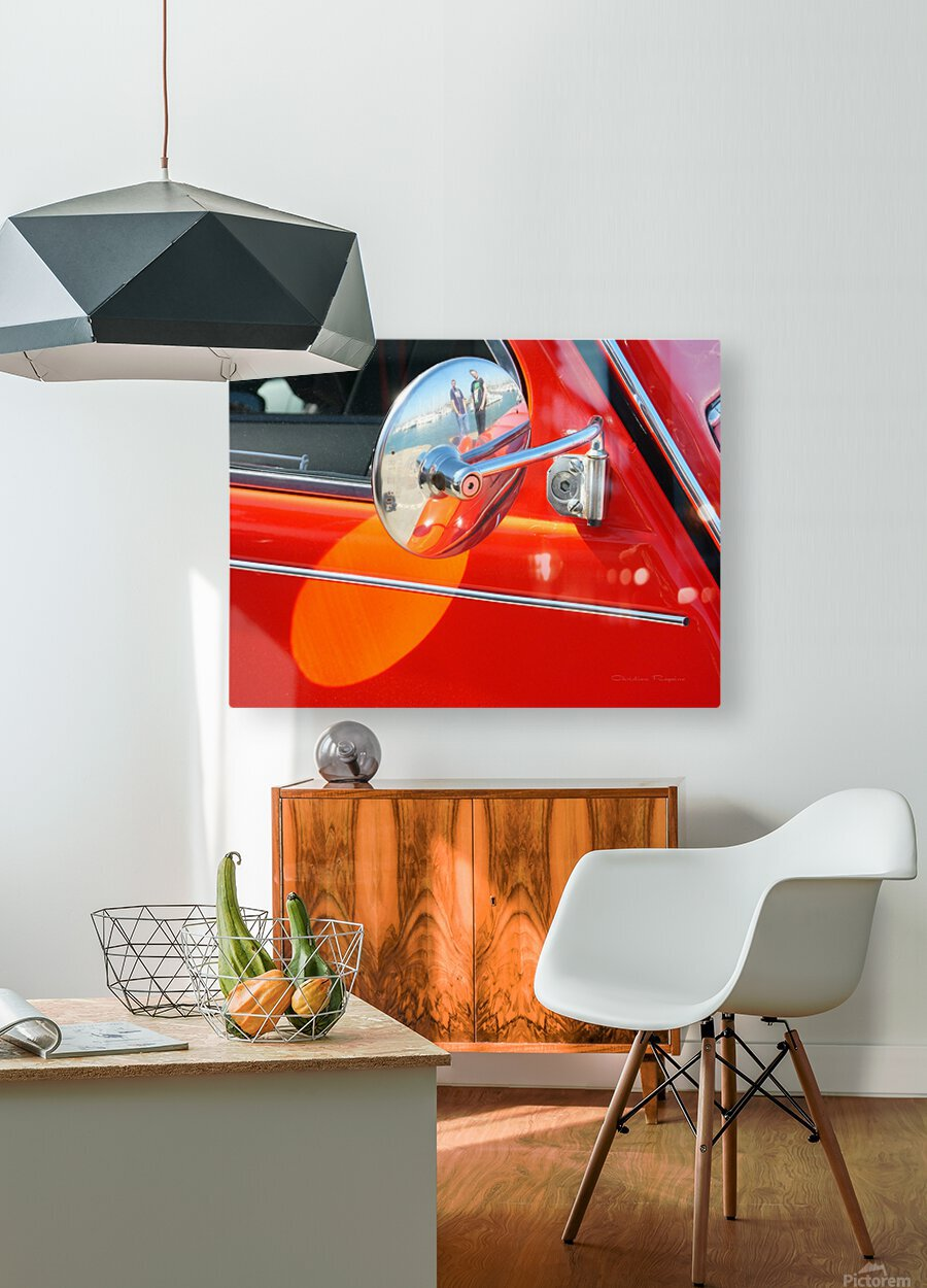 retro dedeuch  HD Metal print with Floating Frame on Back
