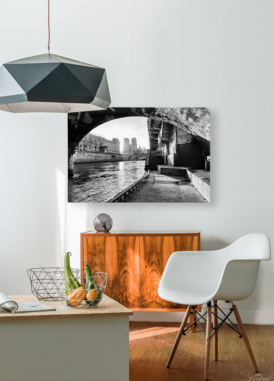 Under the bridge  Impression métal HD avec cadre flottant sur le dos