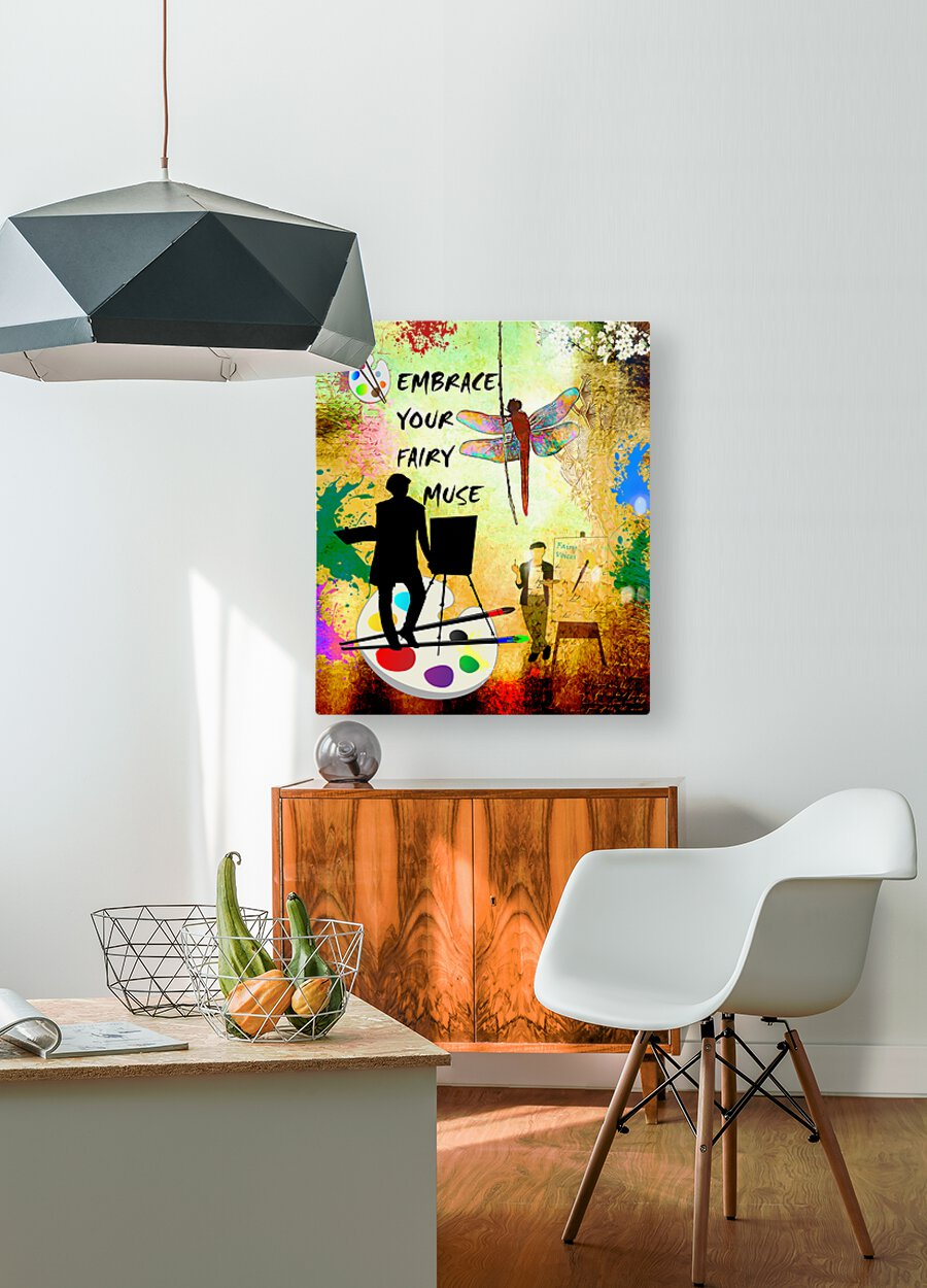 EMBRACE YOUR FAIRY MUSE -ART-For Painter Artist  HD Metal print with Floating Frame on Back
