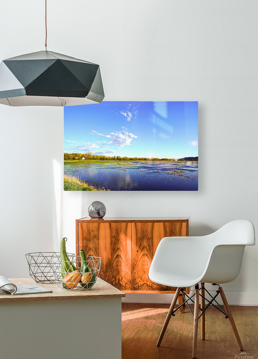 Beautiful Day at the Estuary  HD Metal print with Floating Frame on Back