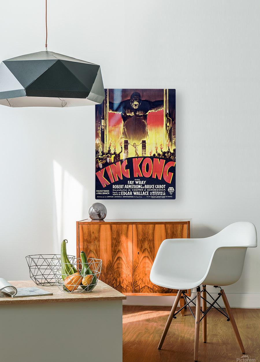 King Kong Vintage Poster  HD Metal print with Floating Frame on Back