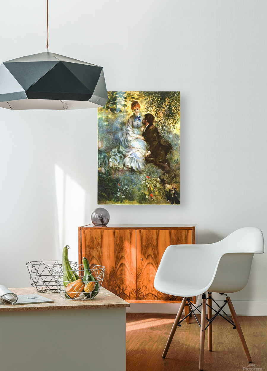 Twosome  HD Metal print with Floating Frame on Back