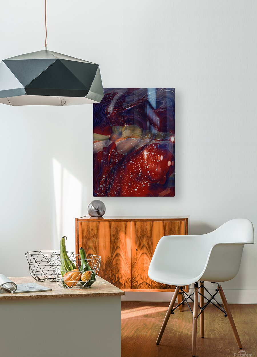 The Universe is Conscious   HD Metal print with Floating Frame on Back