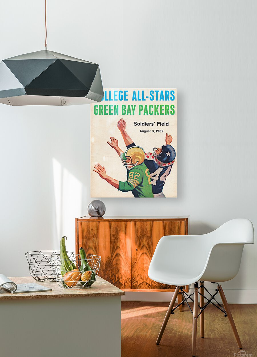 1962 Green Bay Packers vs. College All-Stars  HD Metal print with Floating Frame on Back