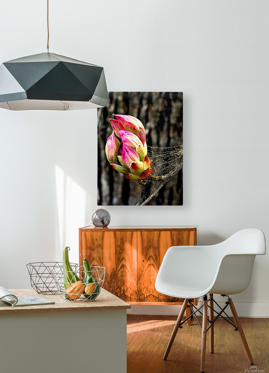 This Buds For You  HD Metal print with Floating Frame on Back