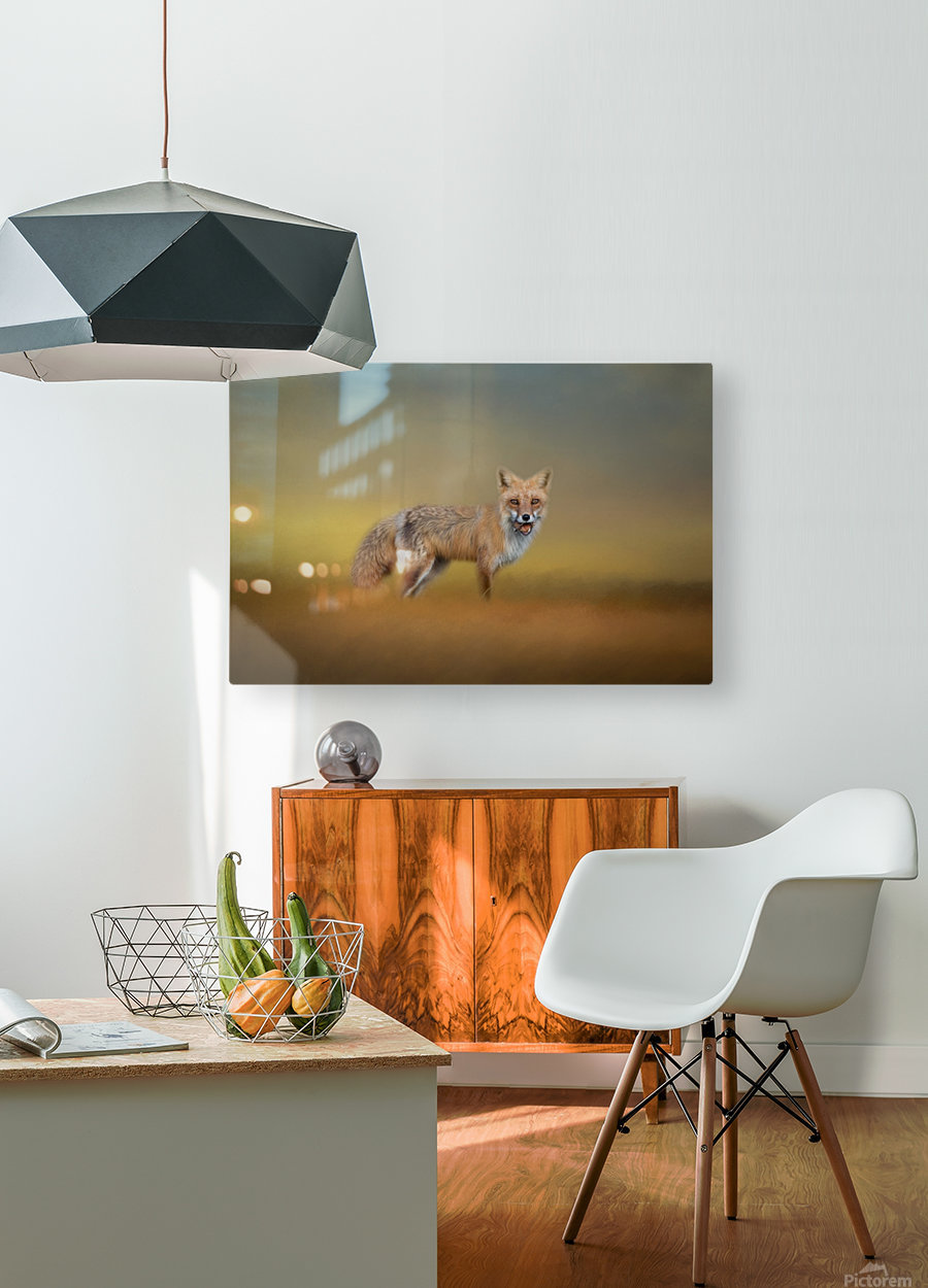 Foxy  HD Metal print with Floating Frame on Back