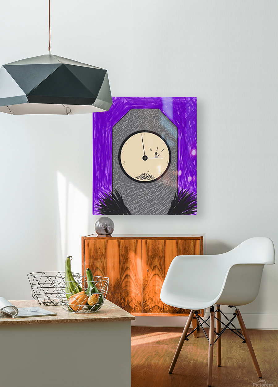 The Constant Bombardment Of Passing Time  HD Metal print with Floating Frame on Back