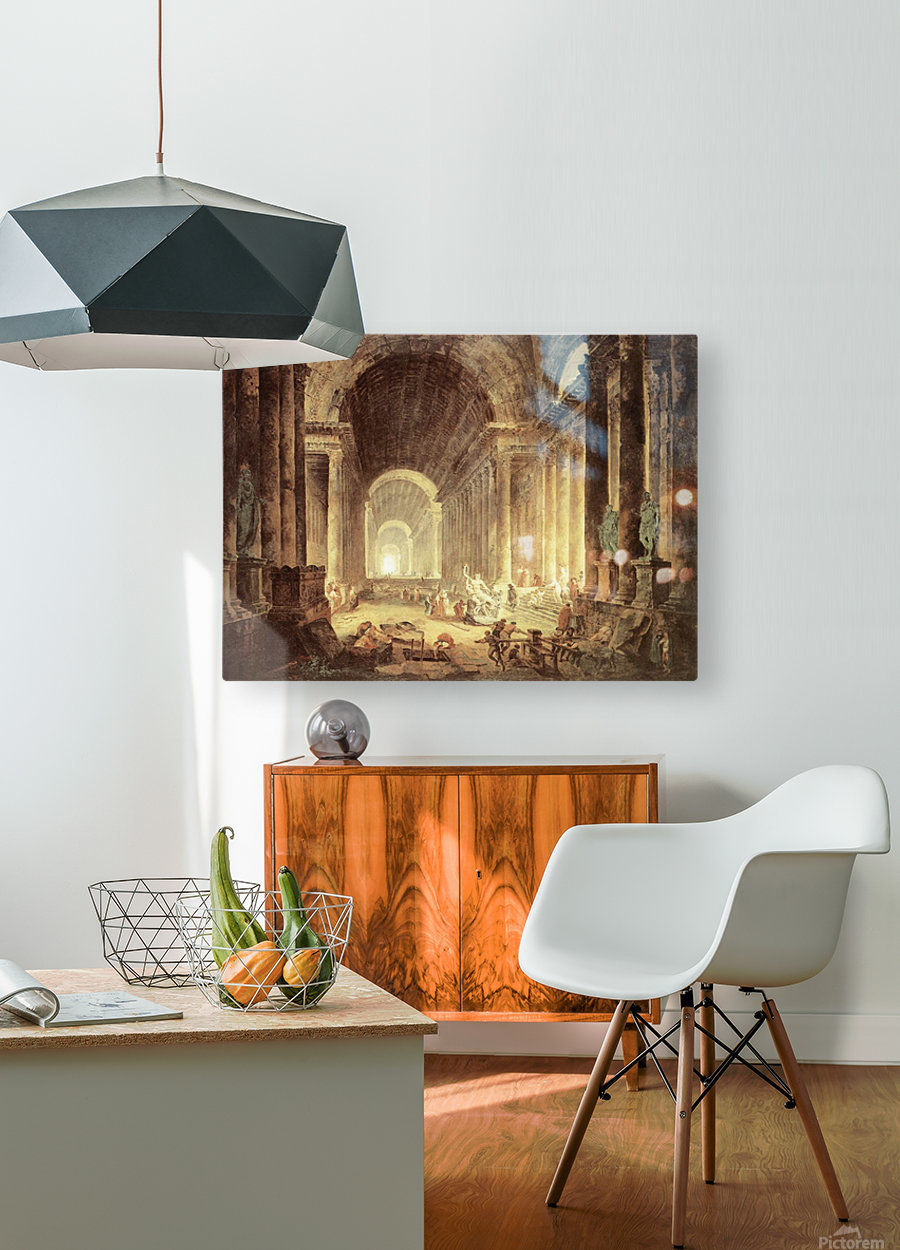 The Finding of the Laocoon  HD Metal print with Floating Frame on Back