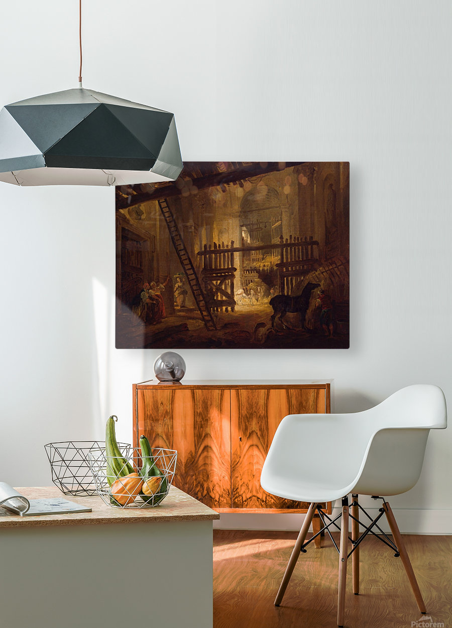 Stable in Ruins of Villa Giulia  HD Metal print with Floating Frame on Back