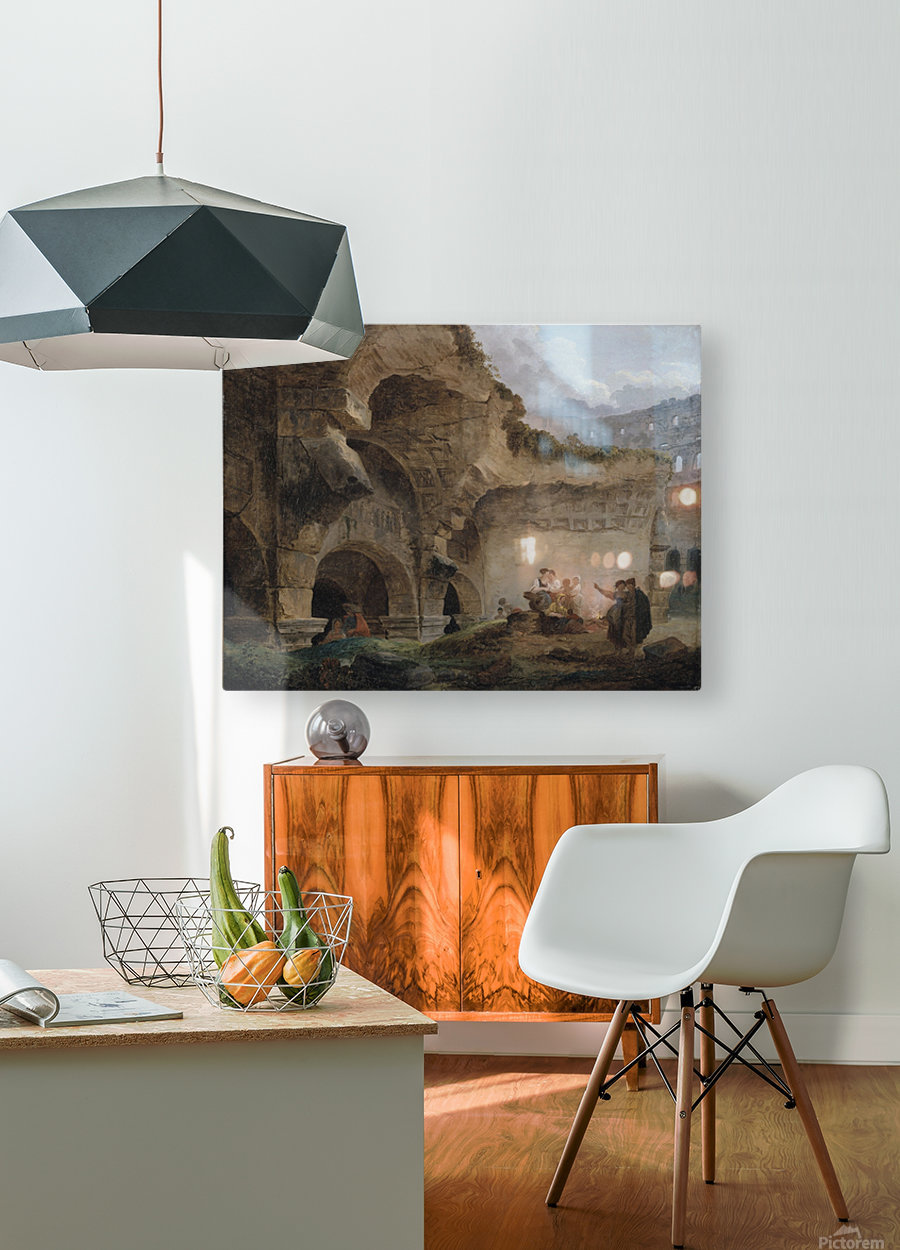 Washerwomen in the Ruins of the Colosseum  HD Metal print with Floating Frame on Back