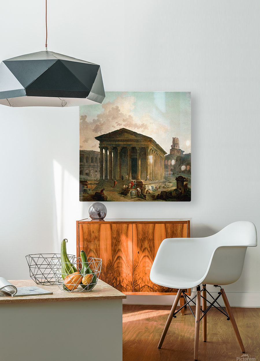 Antic ruins with figures  HD Metal print with Floating Frame on Back