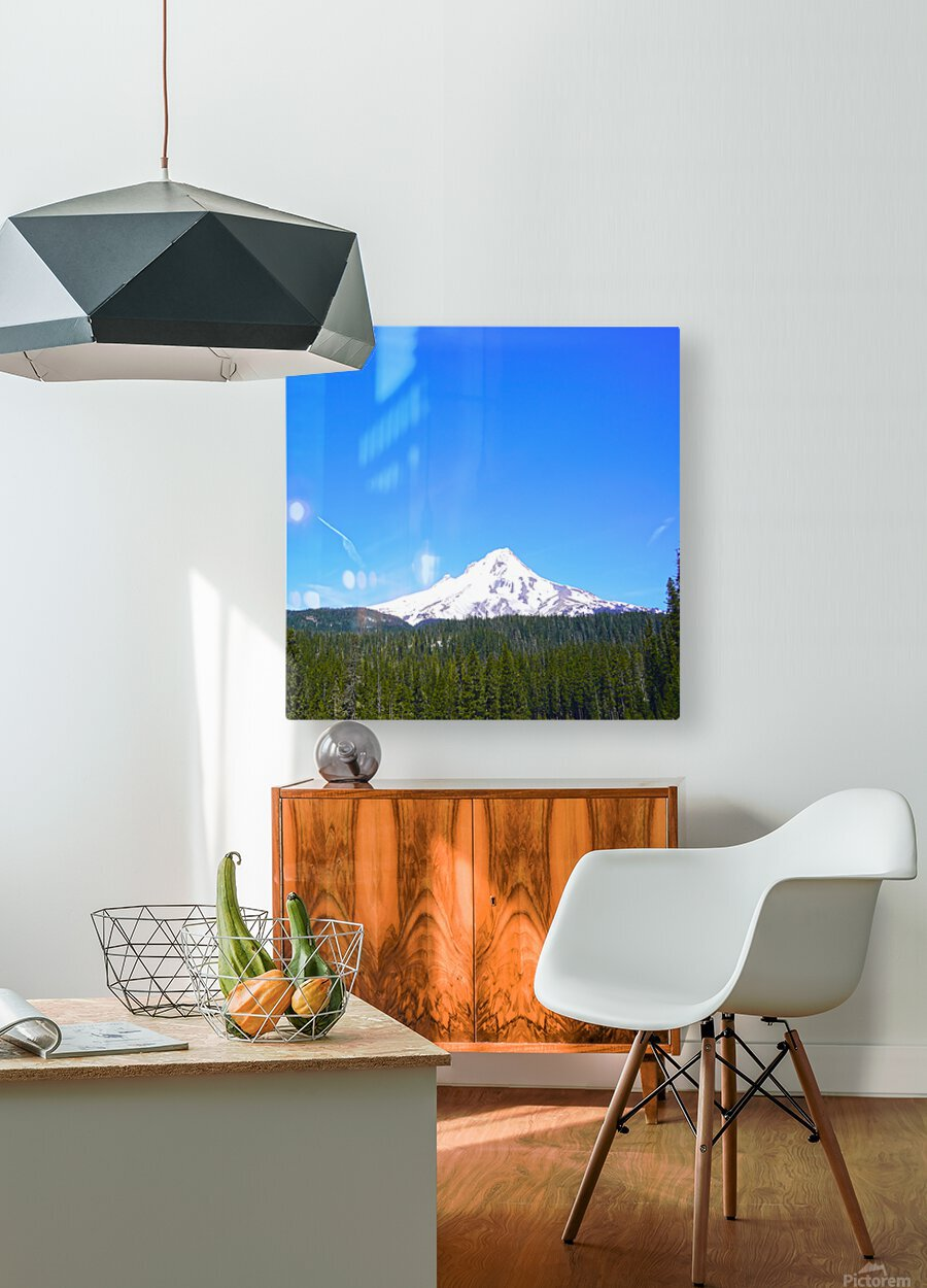 Mount Hood in Spring  HD Metal print with Floating Frame on Back