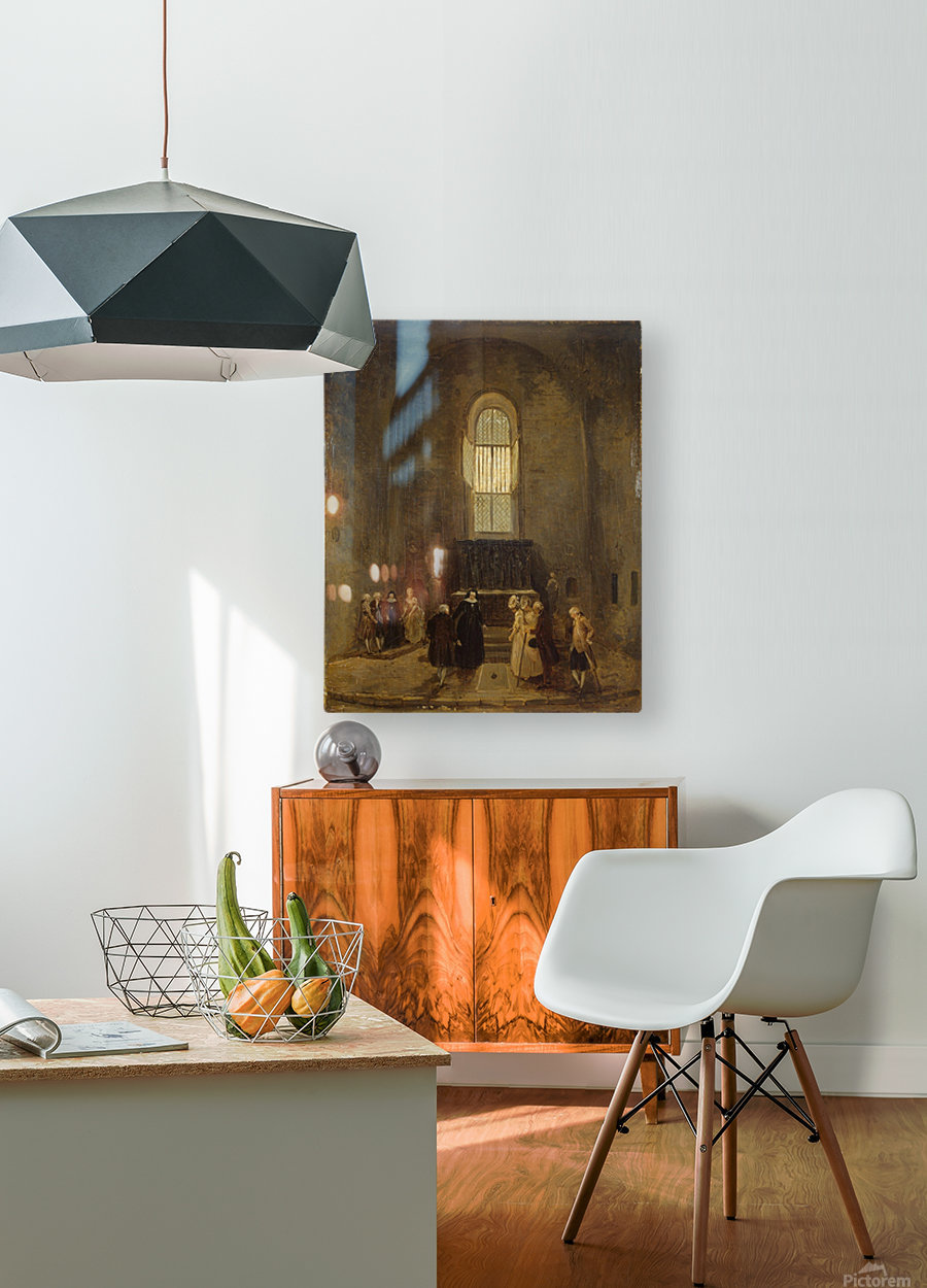 Examining an Old Church  HD Metal print with Floating Frame on Back