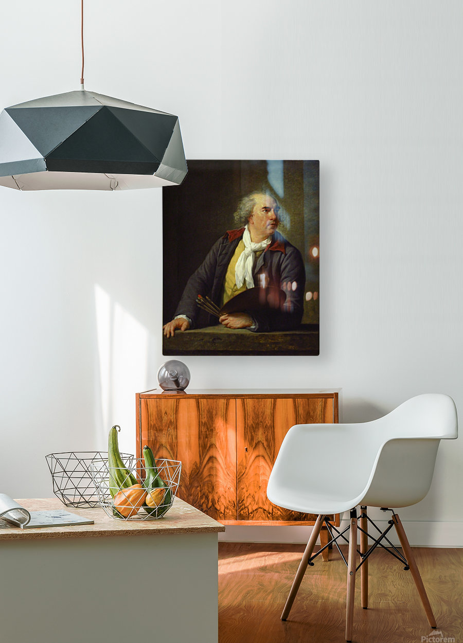 Portrait of Hubert Robert, 1788  HD Metal print with Floating Frame on Back