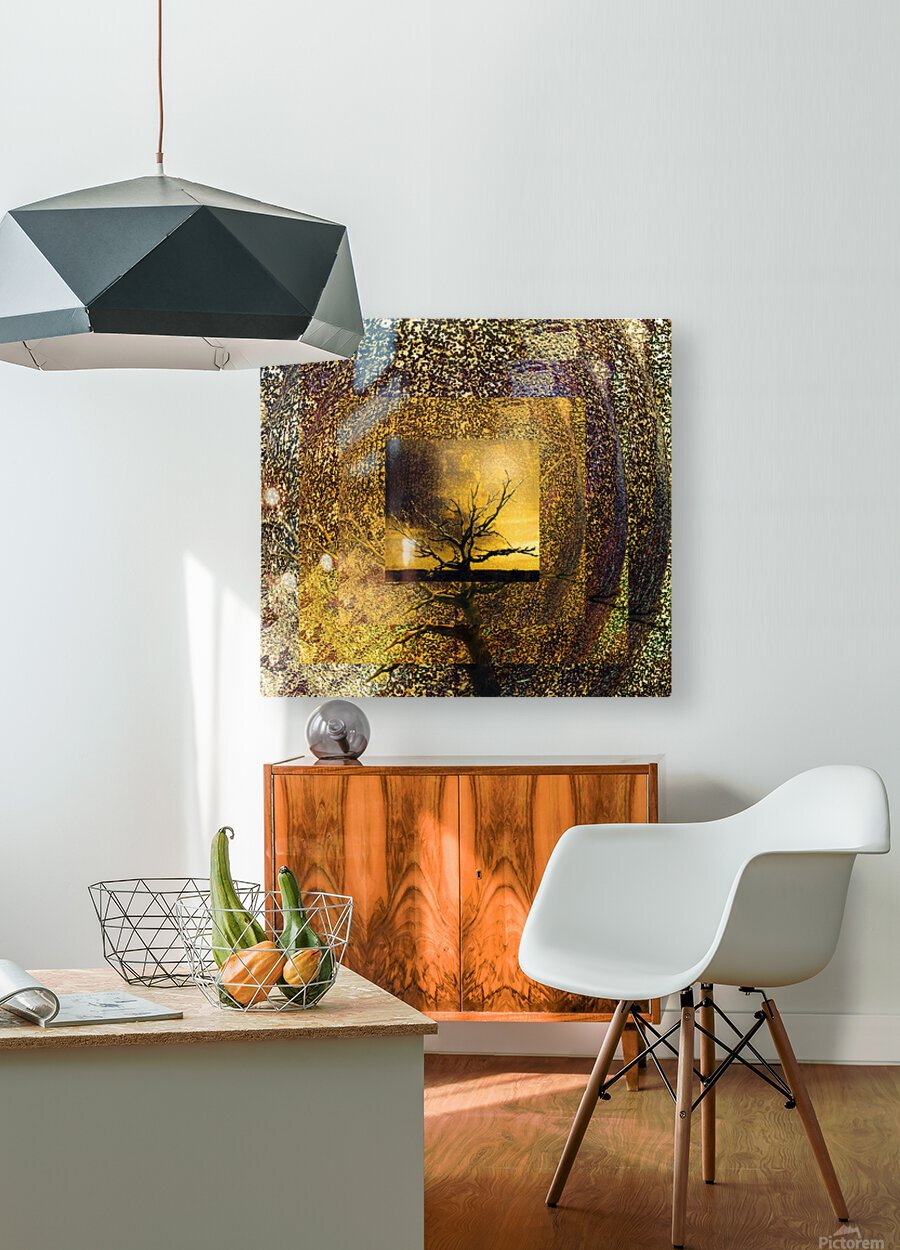 Tree Layers 7  HD Metal print with Floating Frame on Back