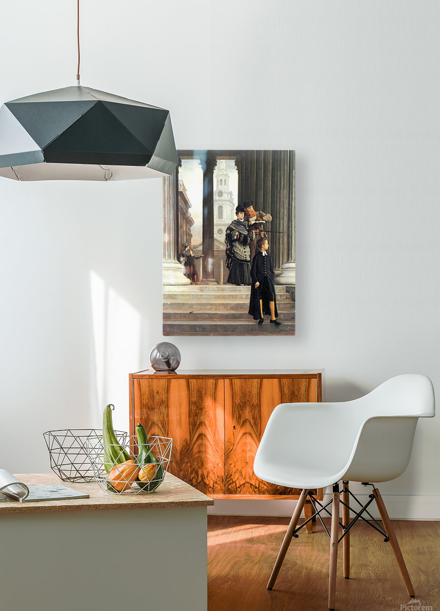 Visitors in London by Tissot  HD Metal print with Floating Frame on Back