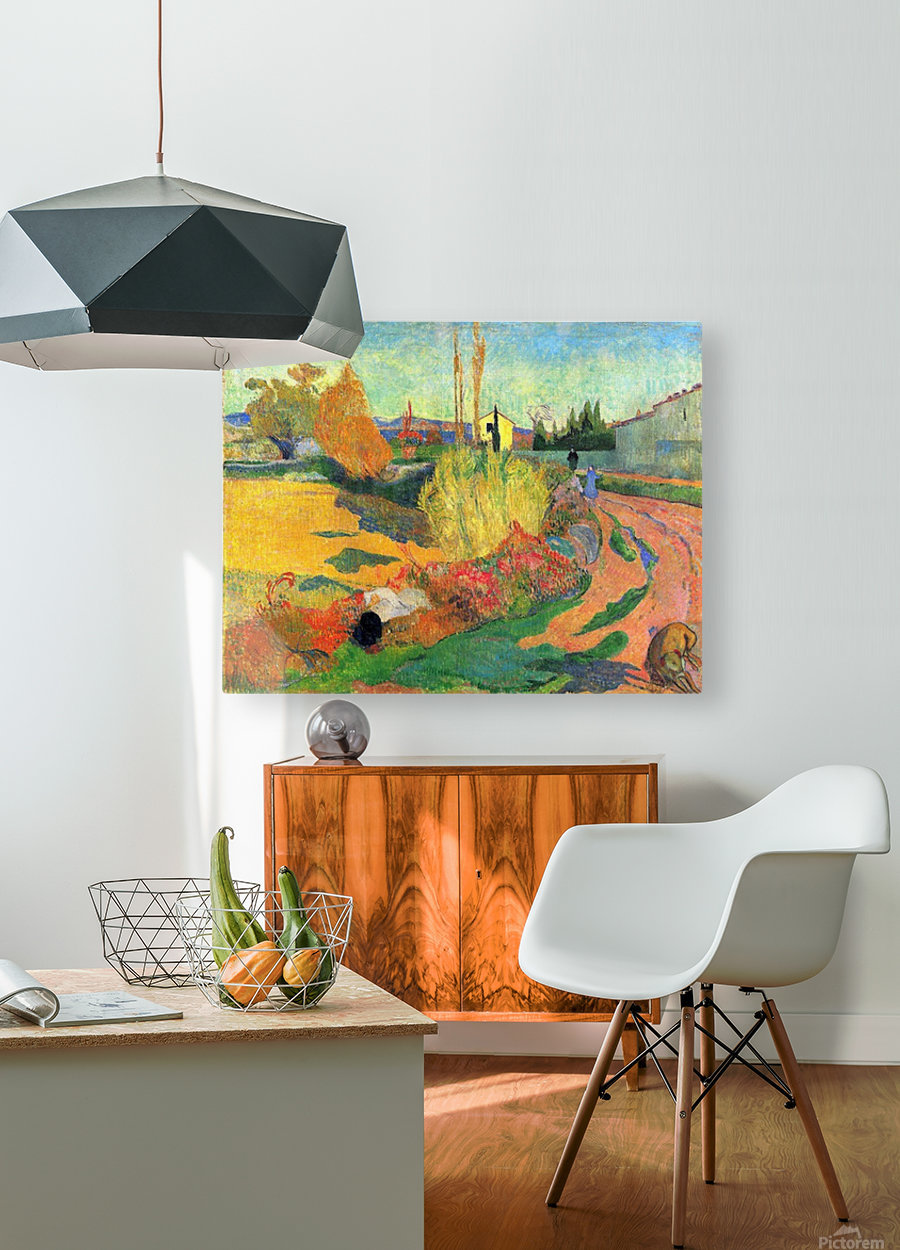 Von Arles by Gauguin  HD Metal print with Floating Frame on Back