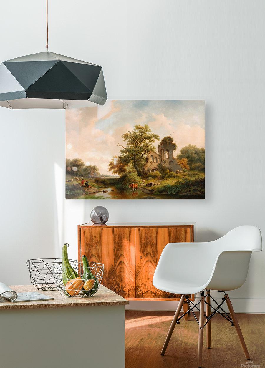 Fantasielandschap met ruine  HD Metal print with Floating Frame on Back