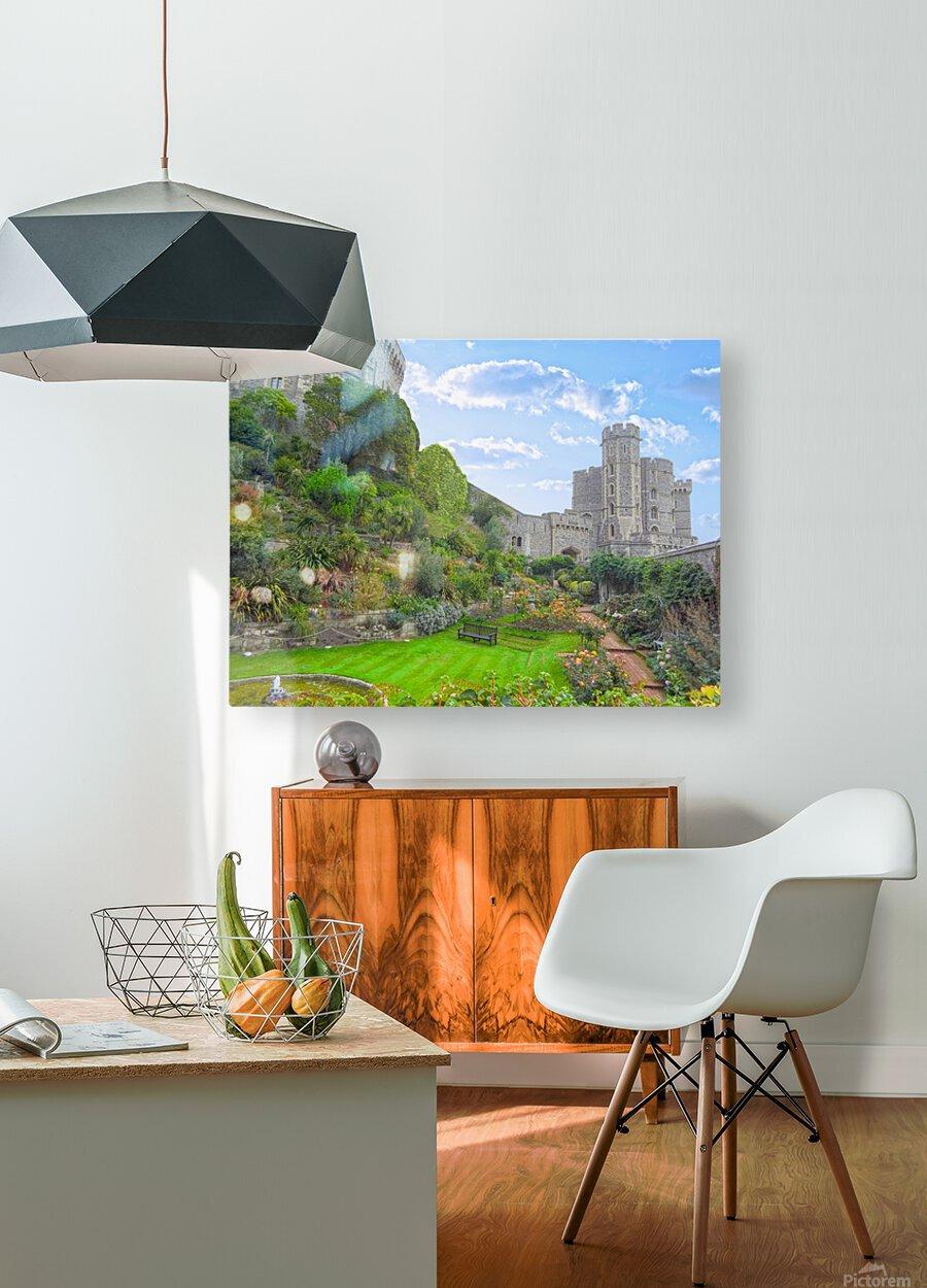 Windsor Castle Under Beautiful Blue Skies - Berkshire United Kingdom  HD Metal print with Floating Frame on Back