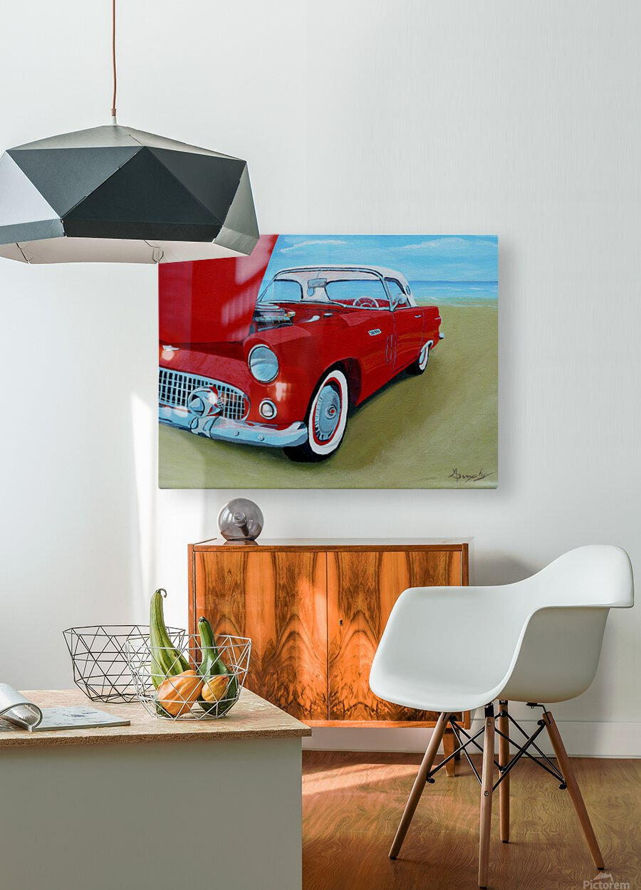 Beach T Bird  HD Metal print with Floating Frame on Back