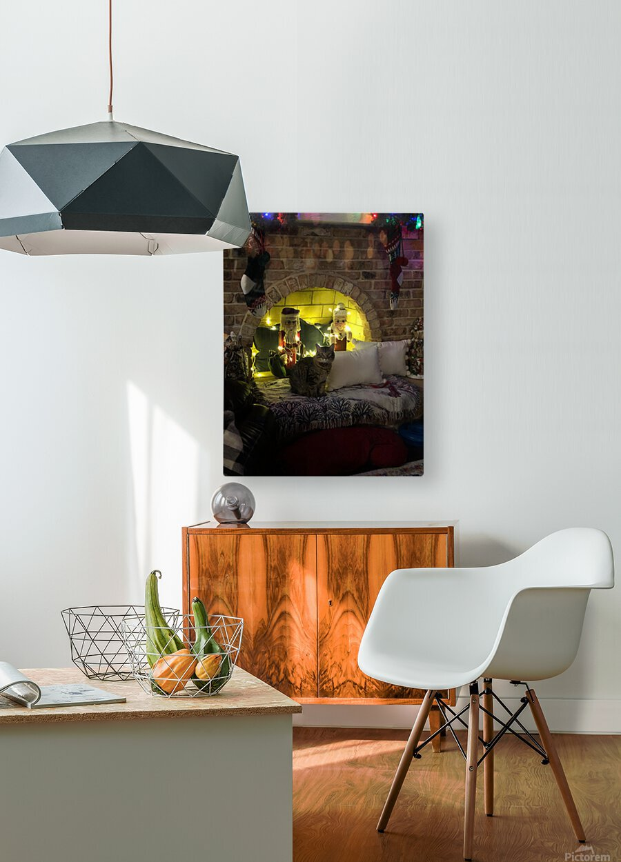 Christmas Cat  HD Metal print with Floating Frame on Back