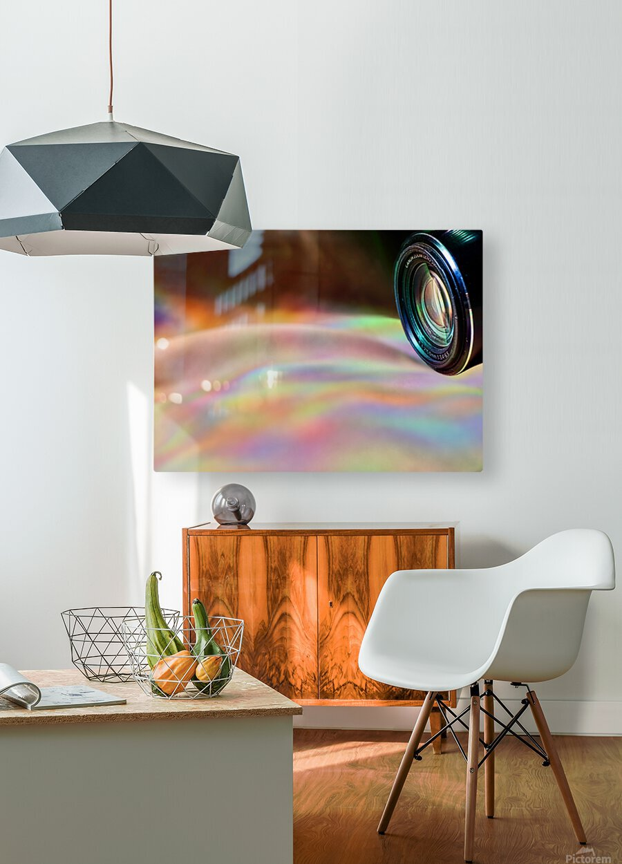 Through the Lens  HD Metal print with Floating Frame on Back