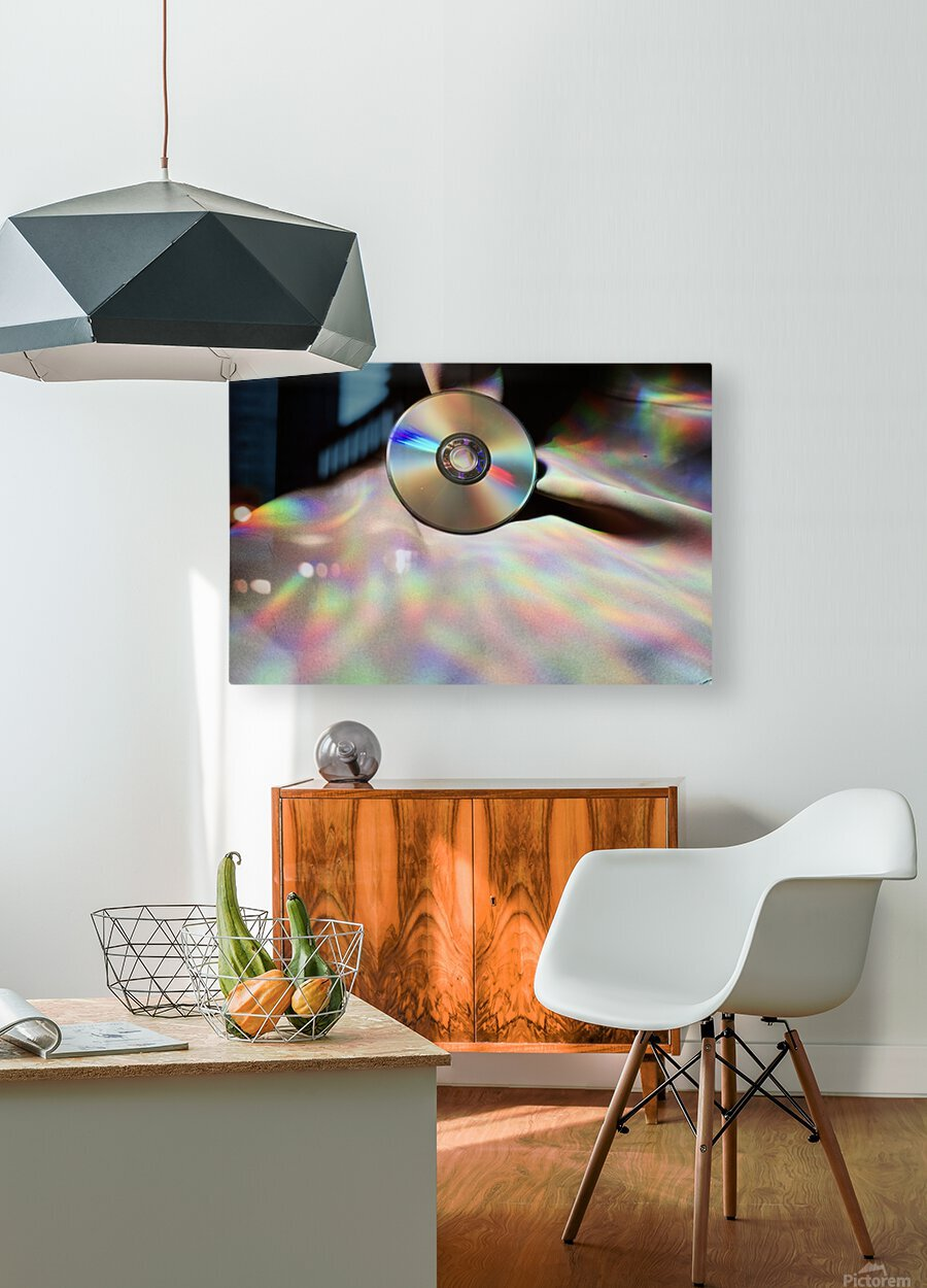 CD Rainbows  HD Metal print with Floating Frame on Back