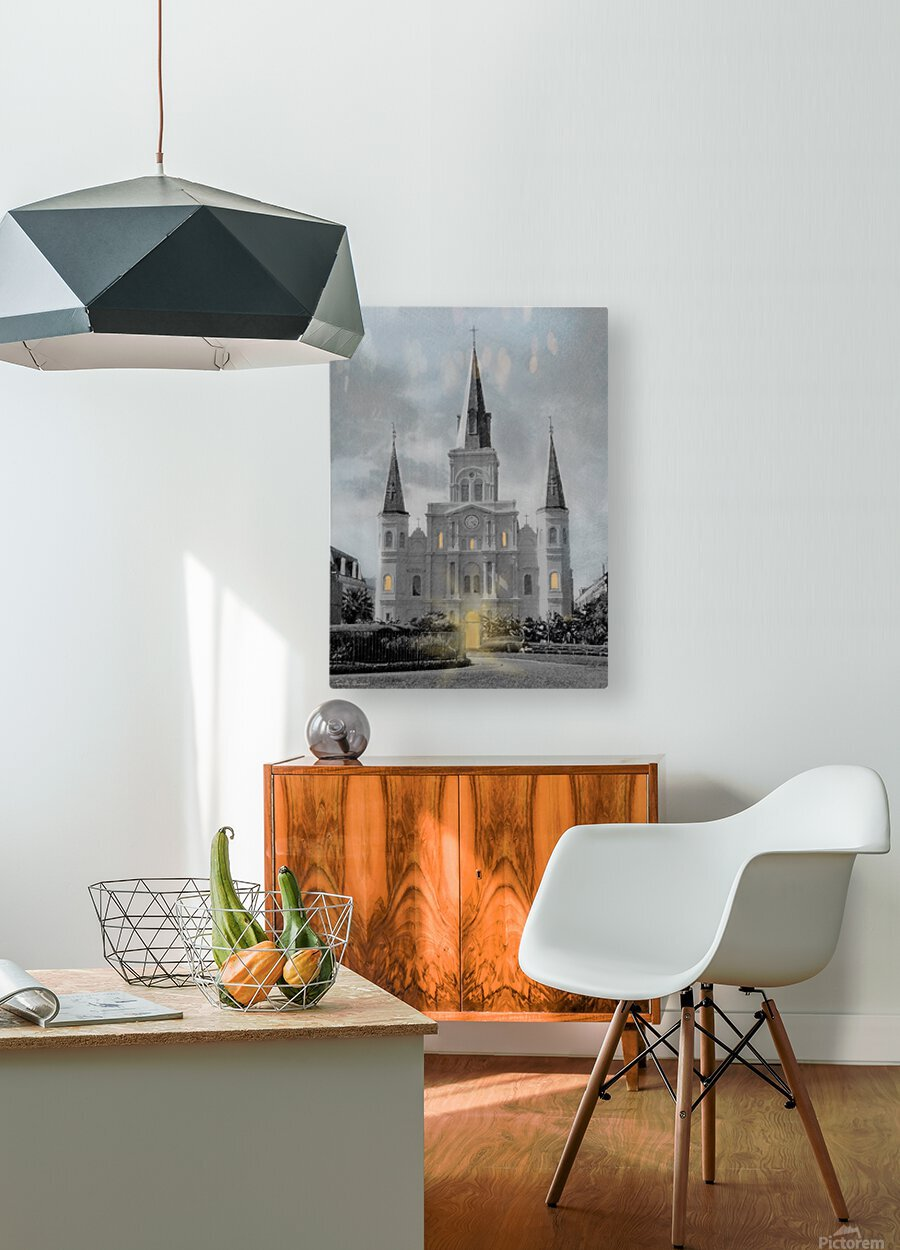St Louis Cathedral - New Orleans  HD Metal print with Floating Frame on Back